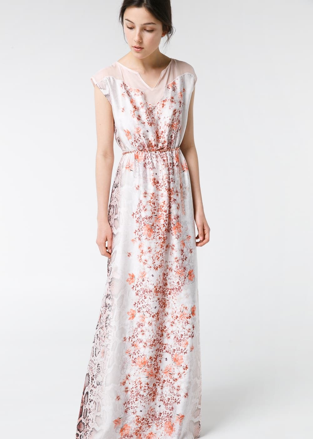 Printed long dress | MANGO