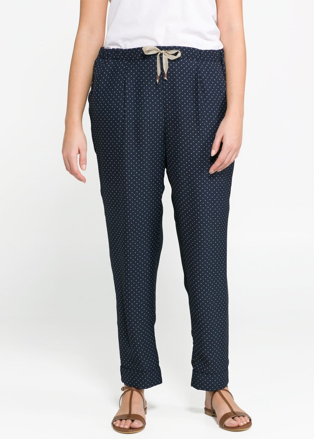 Polka-dot trousers | MANGO