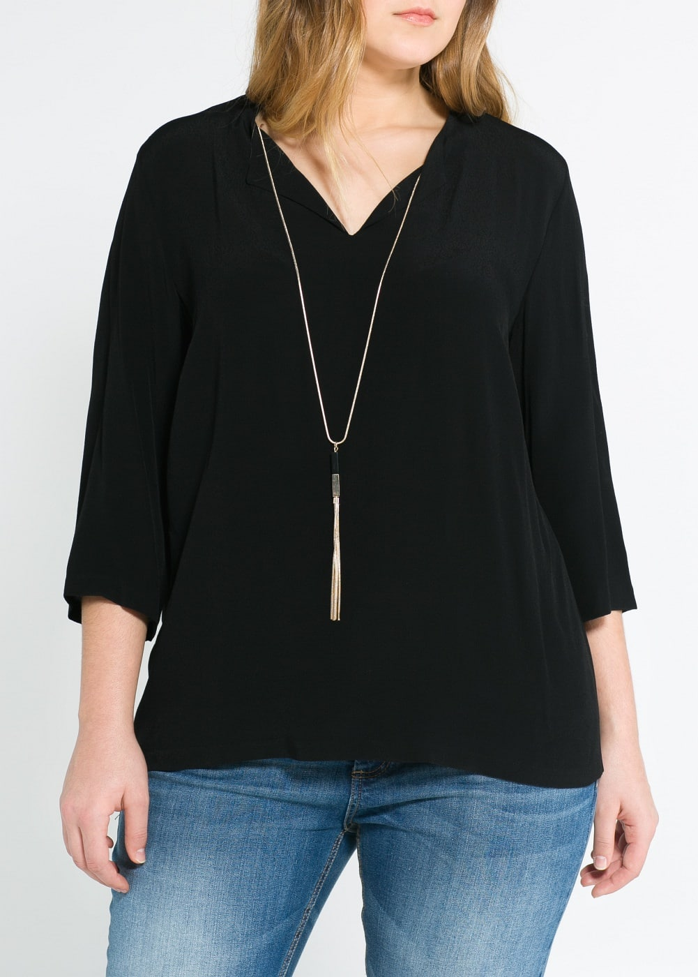 Blouse fluide collier
