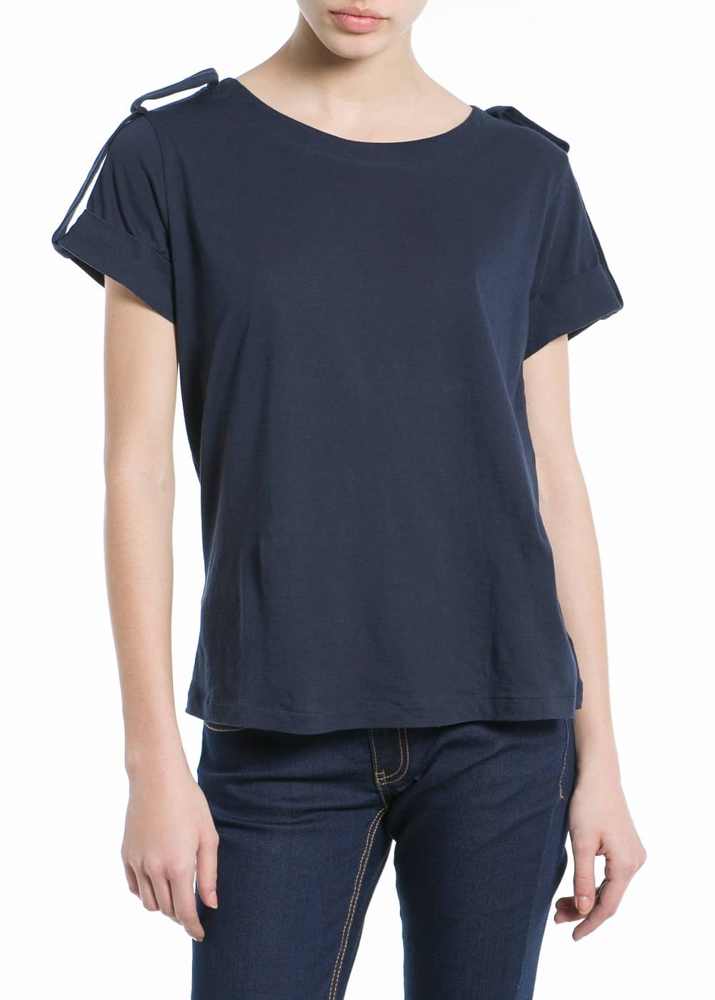 Tab cotton t-shirt | MANGO