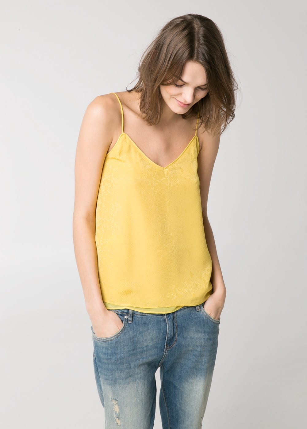 Snake finish top | MANGO