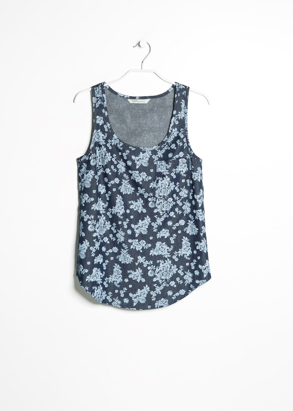 Flower denim top