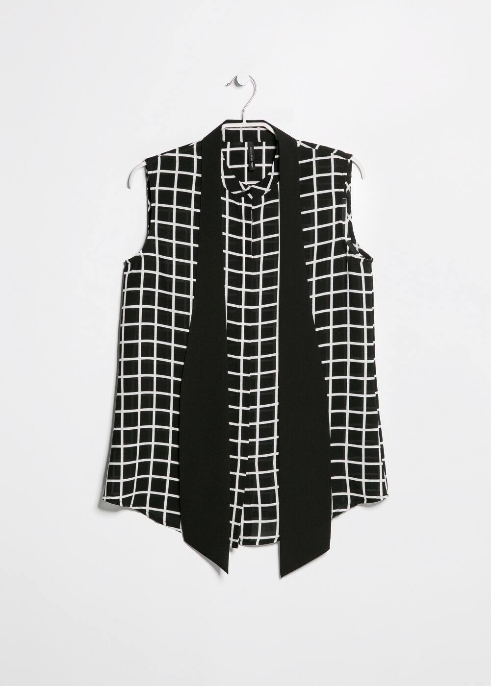 Bow check shirt