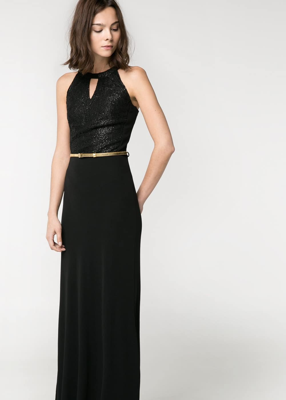 Sequin gown | MANGO
