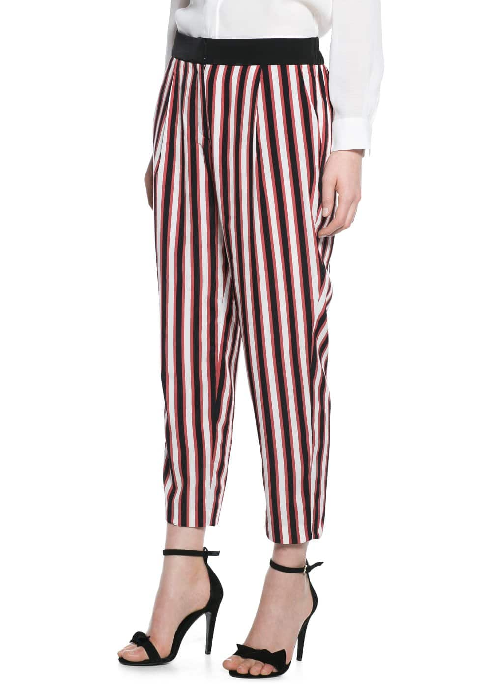 Striped baggy trousers | MANGO