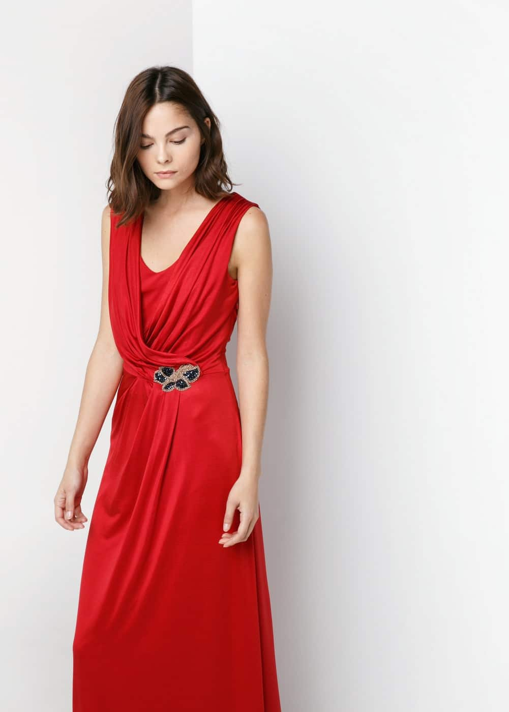 Long wrap gown | MANGO