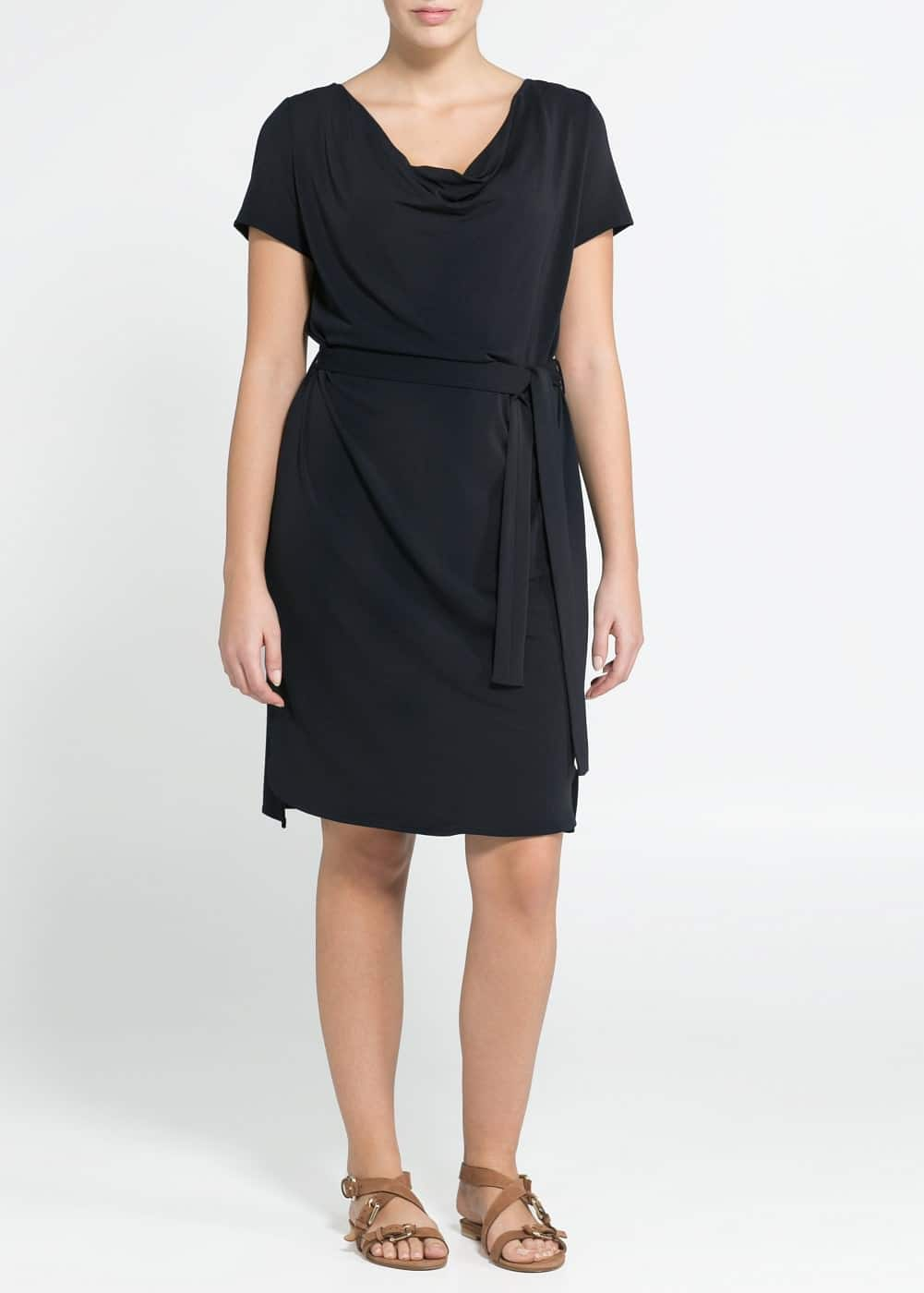 Draped neckline dress
