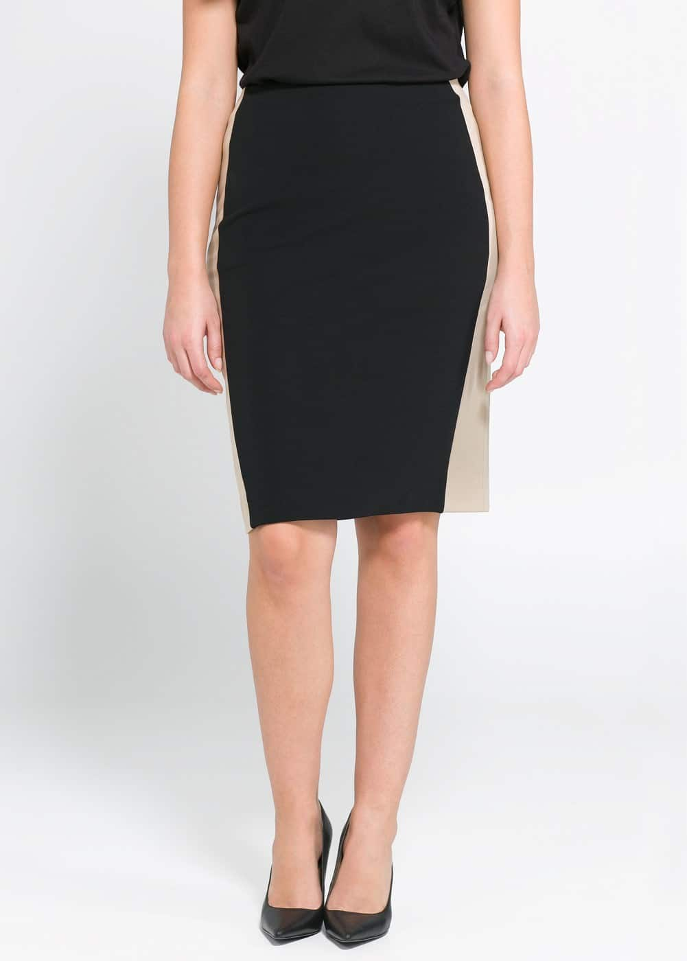 Bicolor fitted skirt