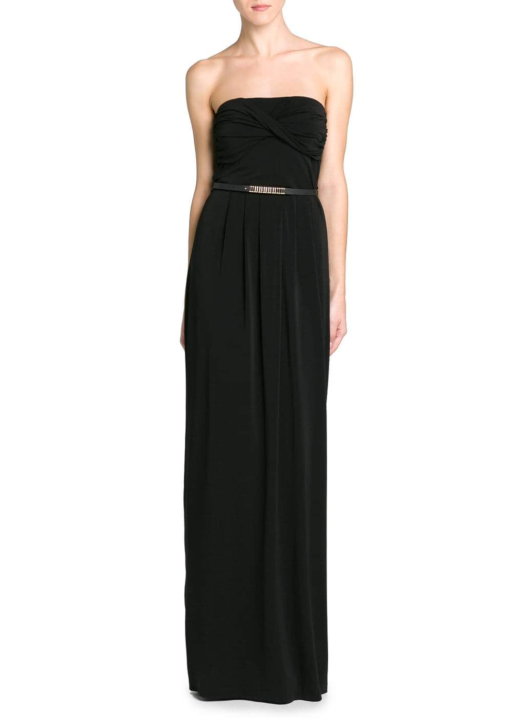 Draped neckline gown | MANGO
