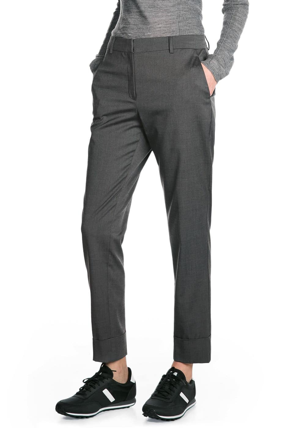 Premium - bird's eye trousers | MANGO
