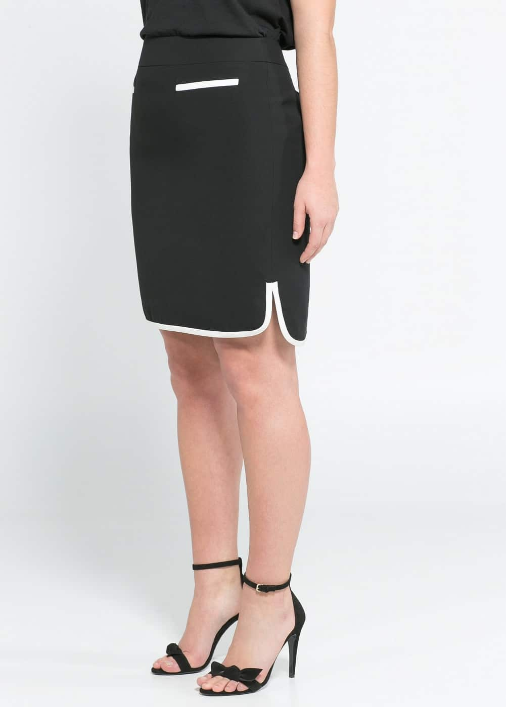 Monochrome suit skirt