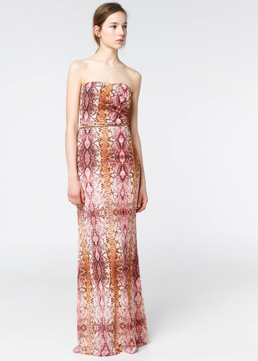 Strapless snake dress | MANGO