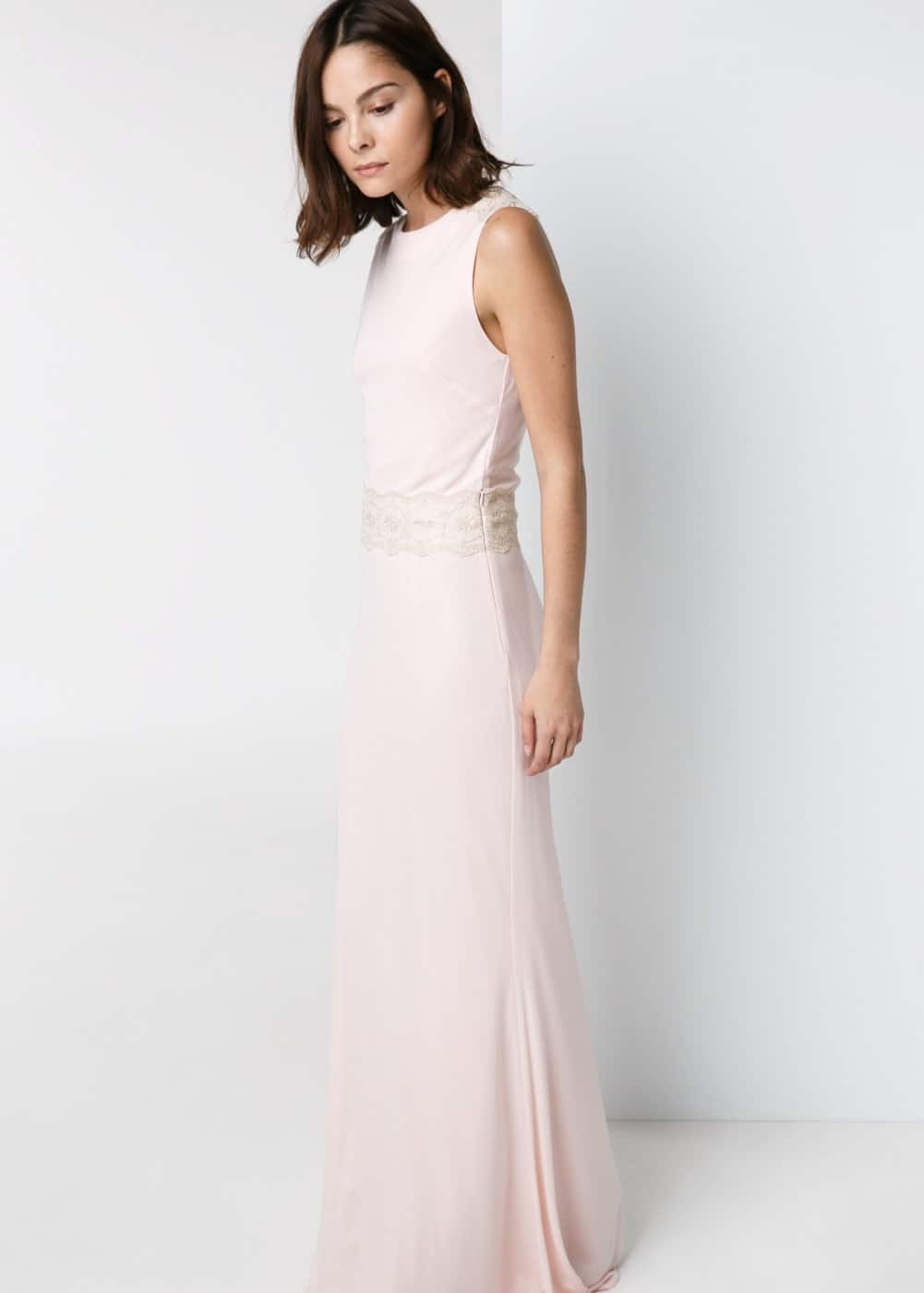 Lace panel gown | MANGO