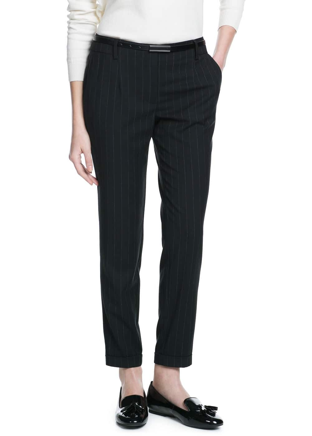 Chalk-stripe trousers