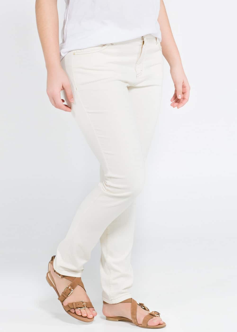 Slim-fit cotton trousers