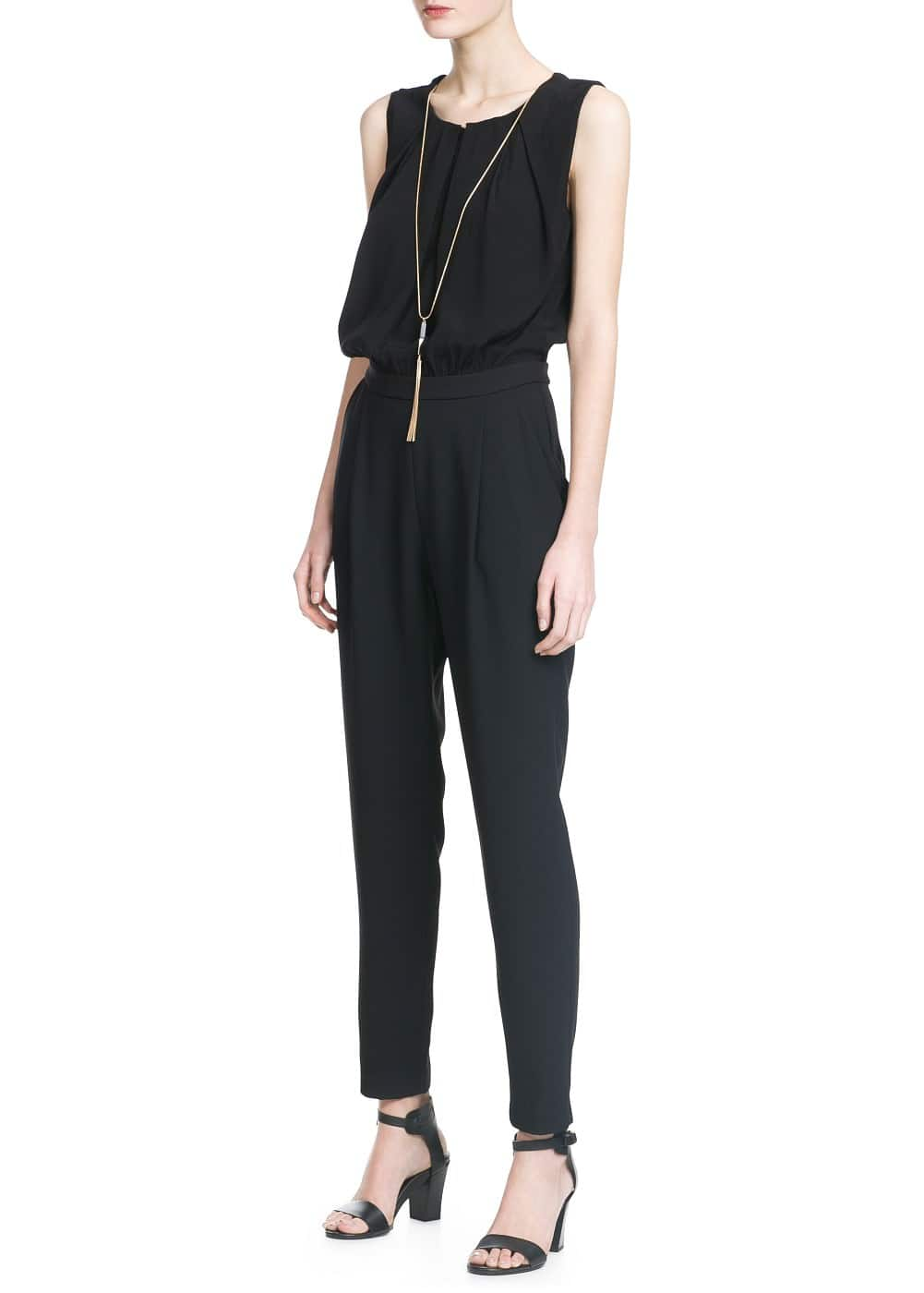Detachable necklace jumpsuit