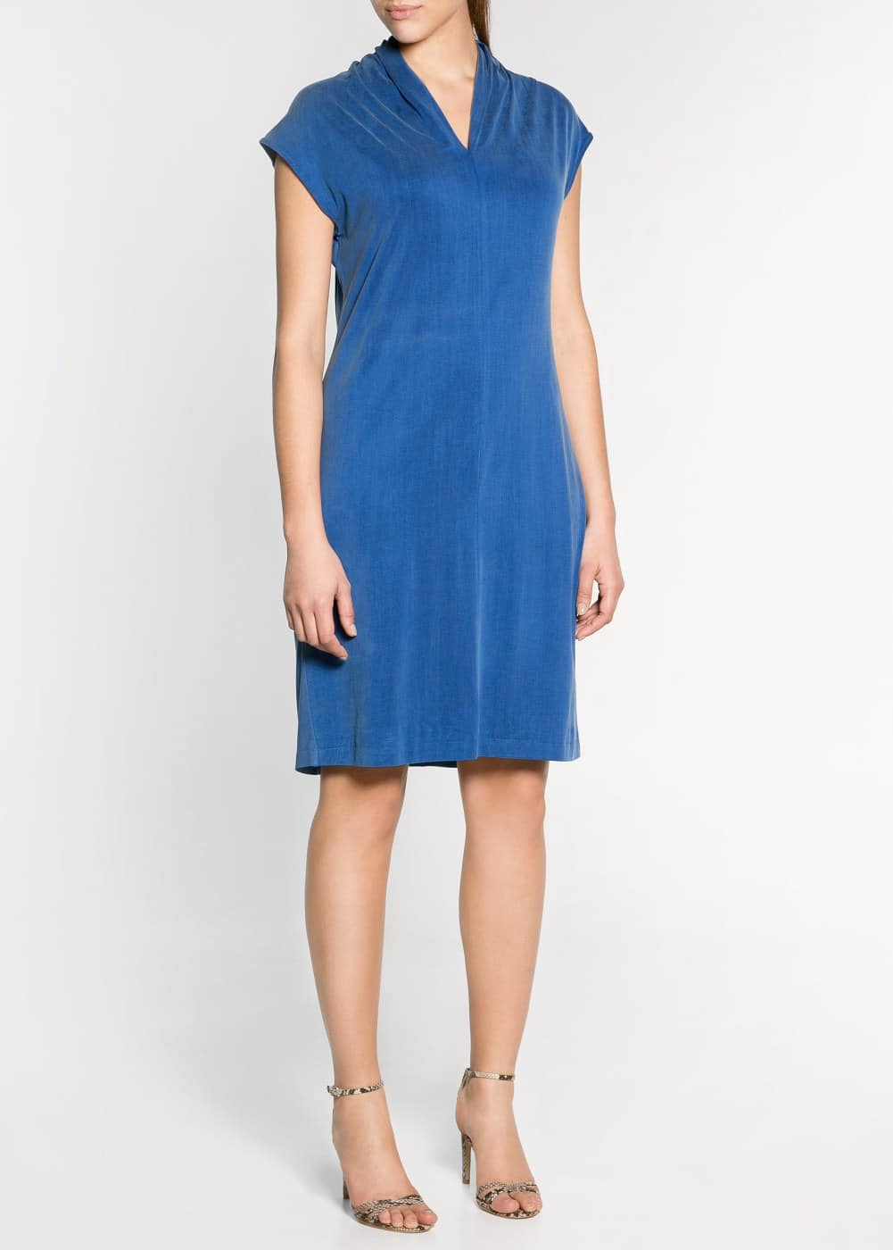 Contrast cupro dress