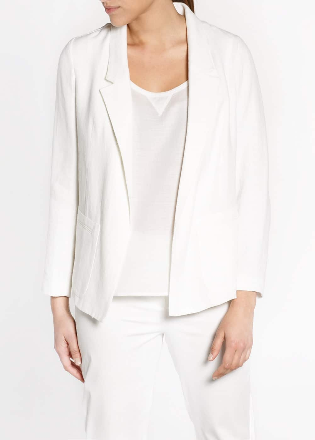 Cotton oversize blazer
