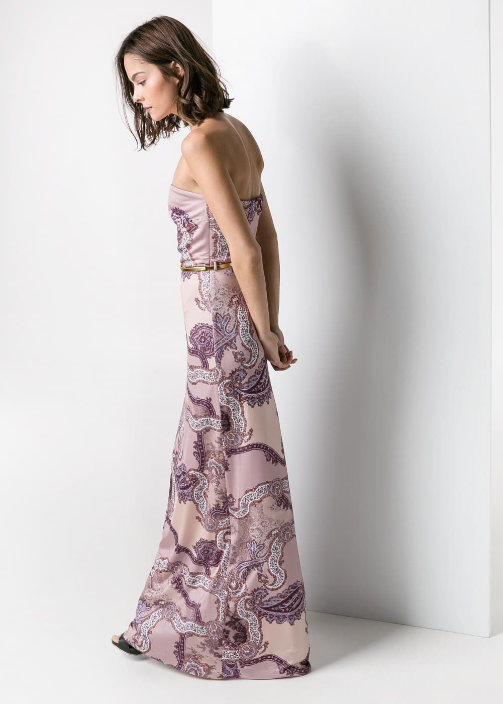 Paisley-print long dress | MANGO MAN