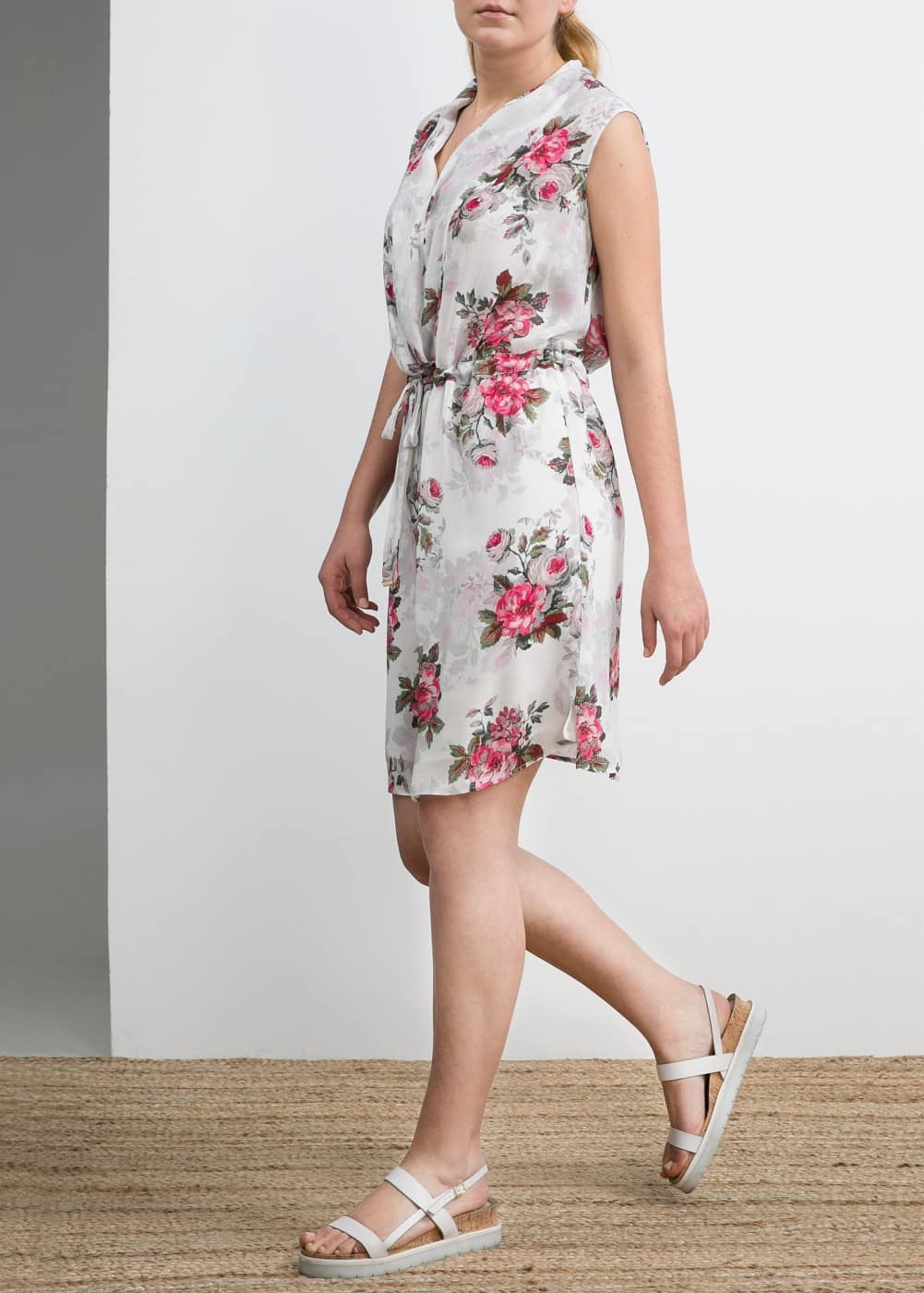 Floral print wrap dress | MANGO