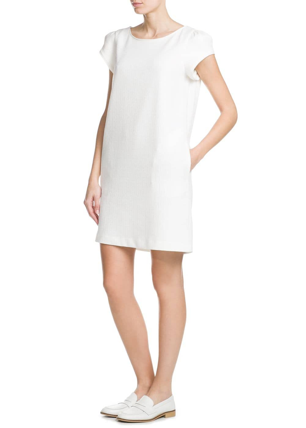 Textured cotton dress | MANGO