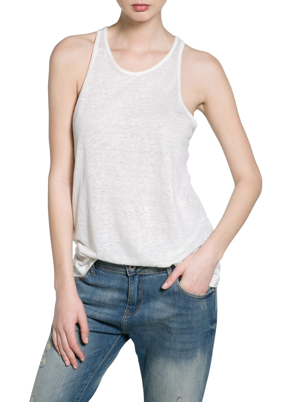 Essential linen top