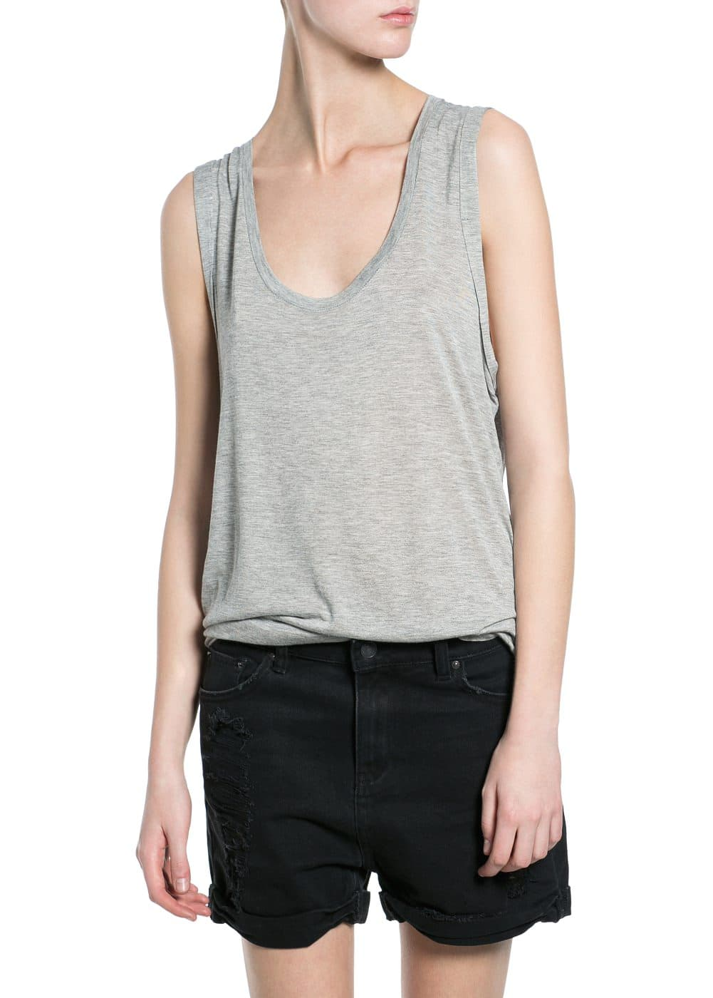 Lightweight long top | MANGO
