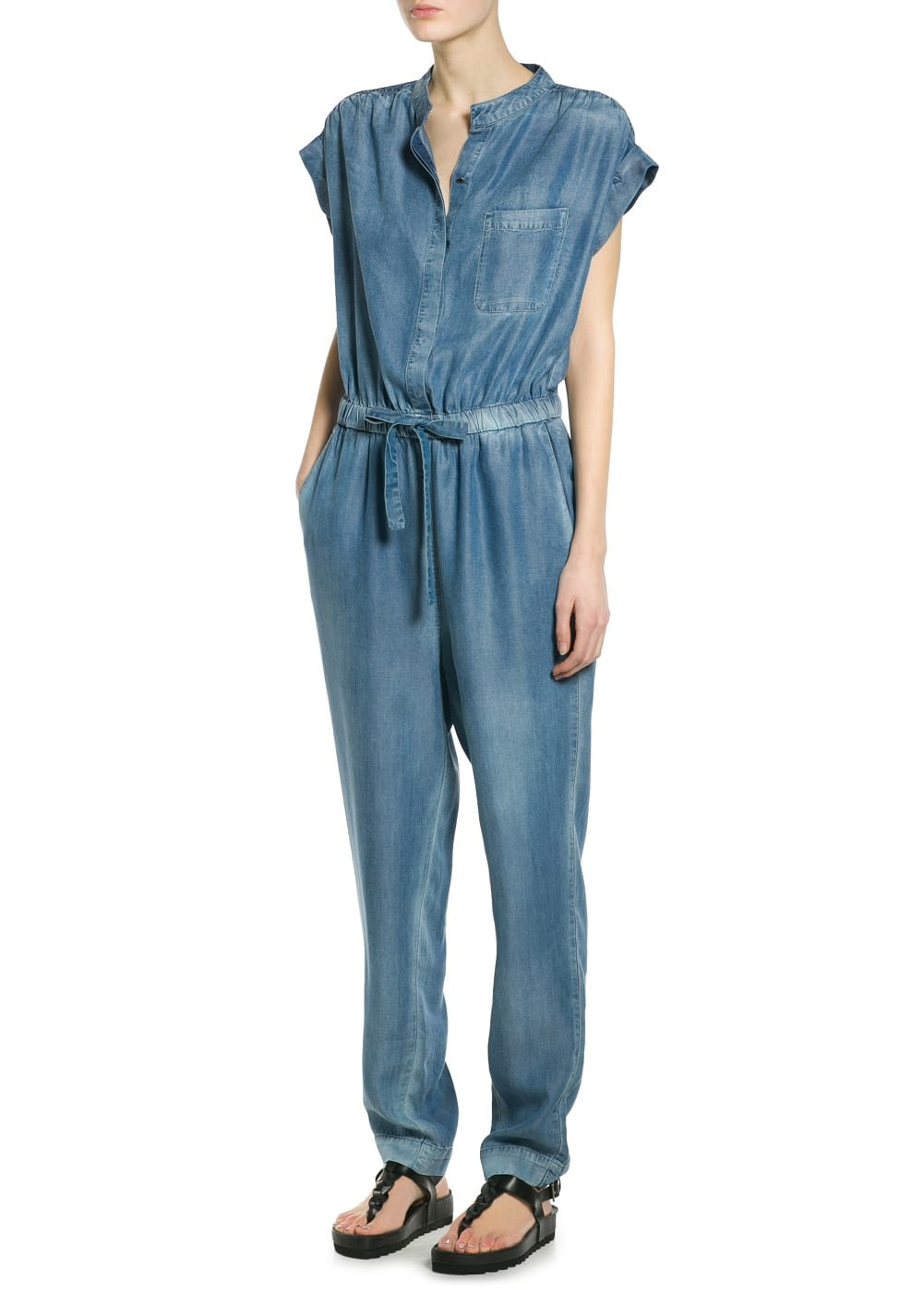 Soft fabric long jumpsuit