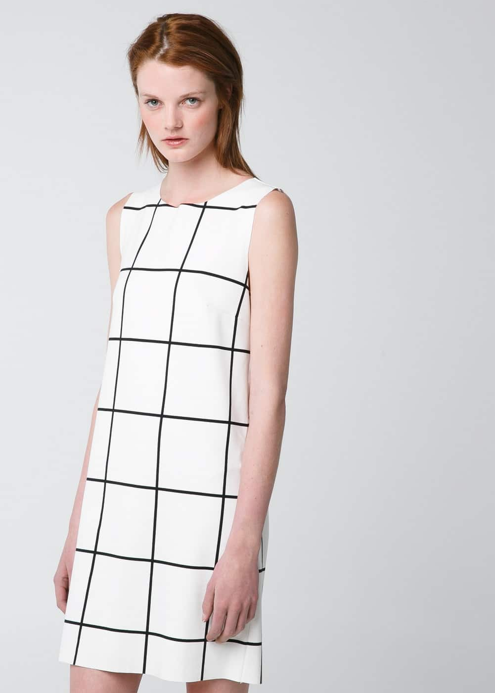 Check ponte dress | MANGO