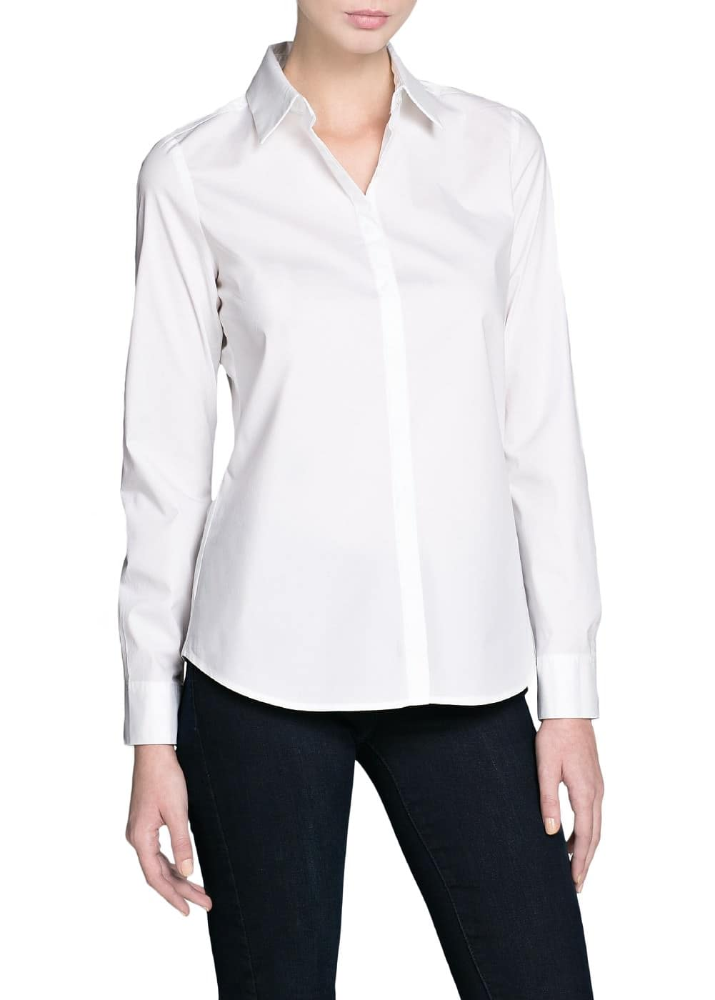 Cotton fitted shirt | MANGO