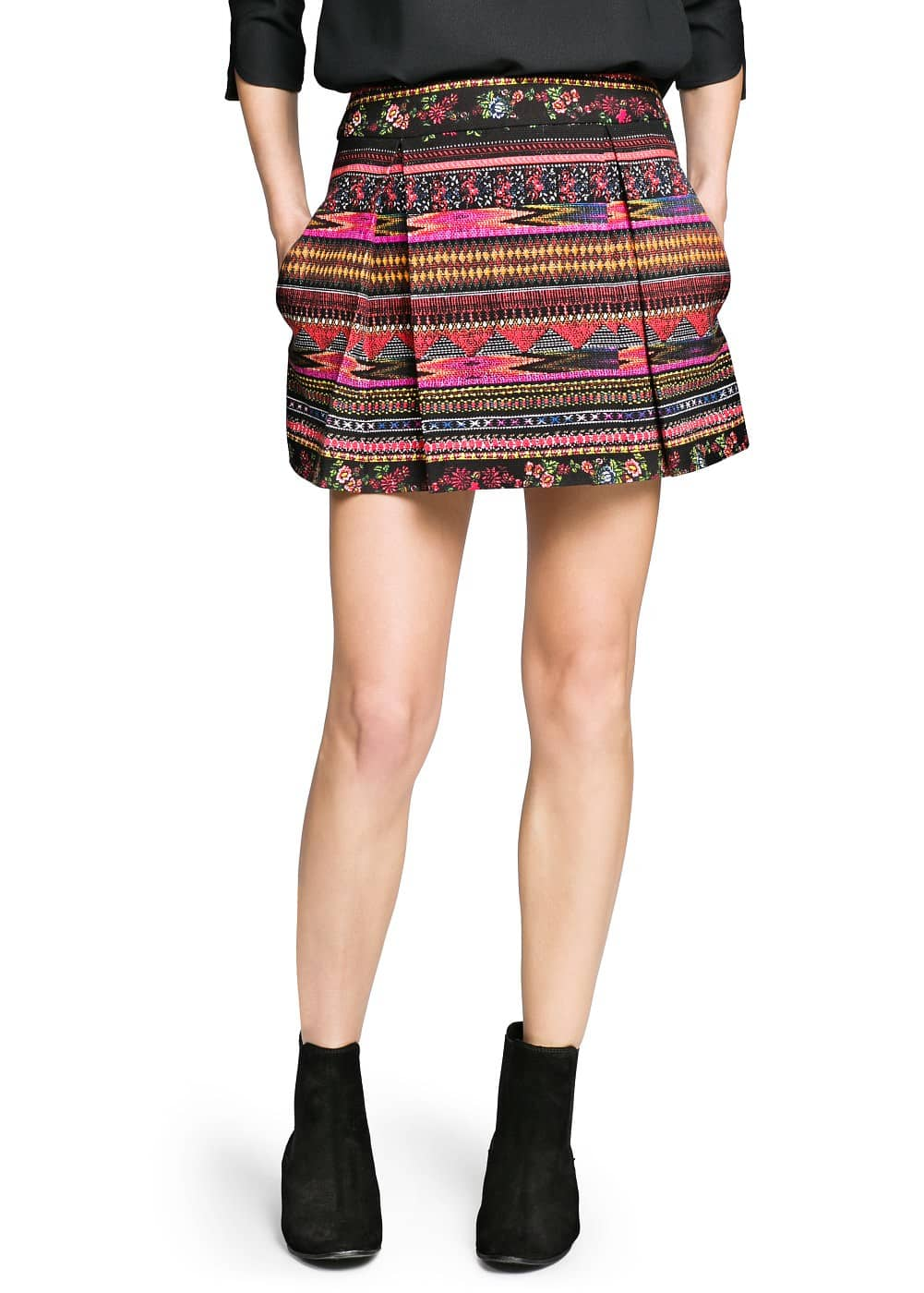 Textured ethnic skirt