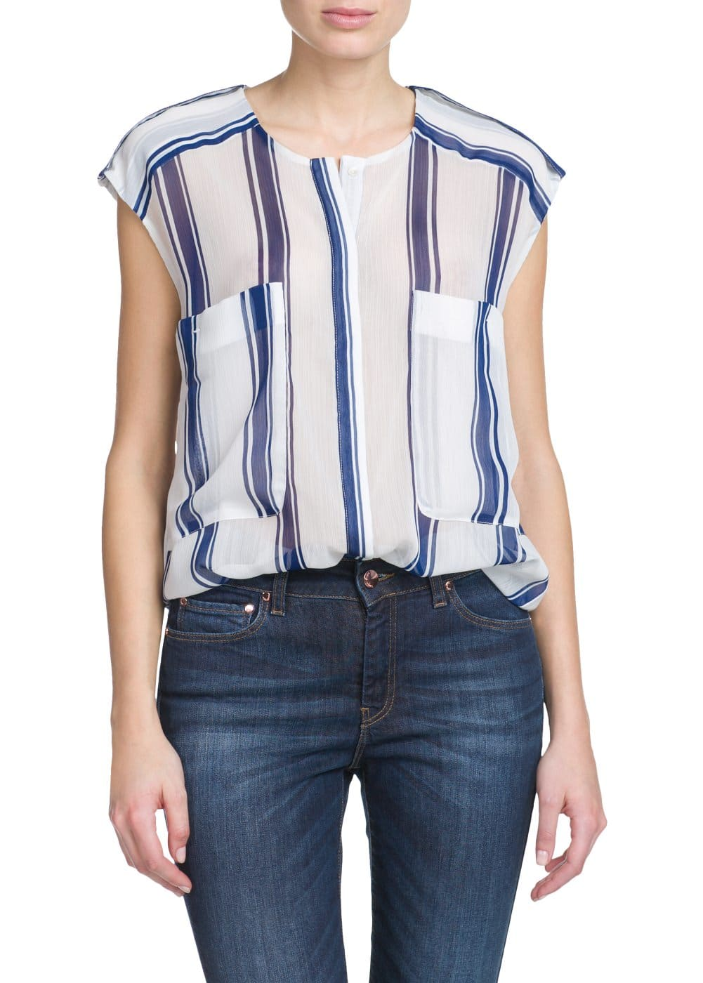 Two-pocket blouse | MANGO