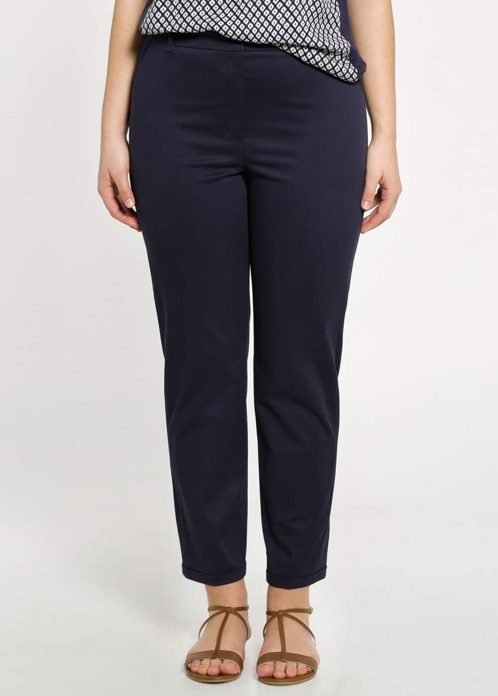 Elastic panel trousers
