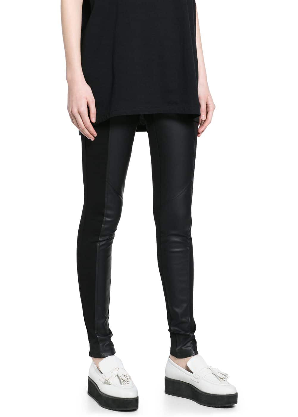 Faux leather leggings | MANGO