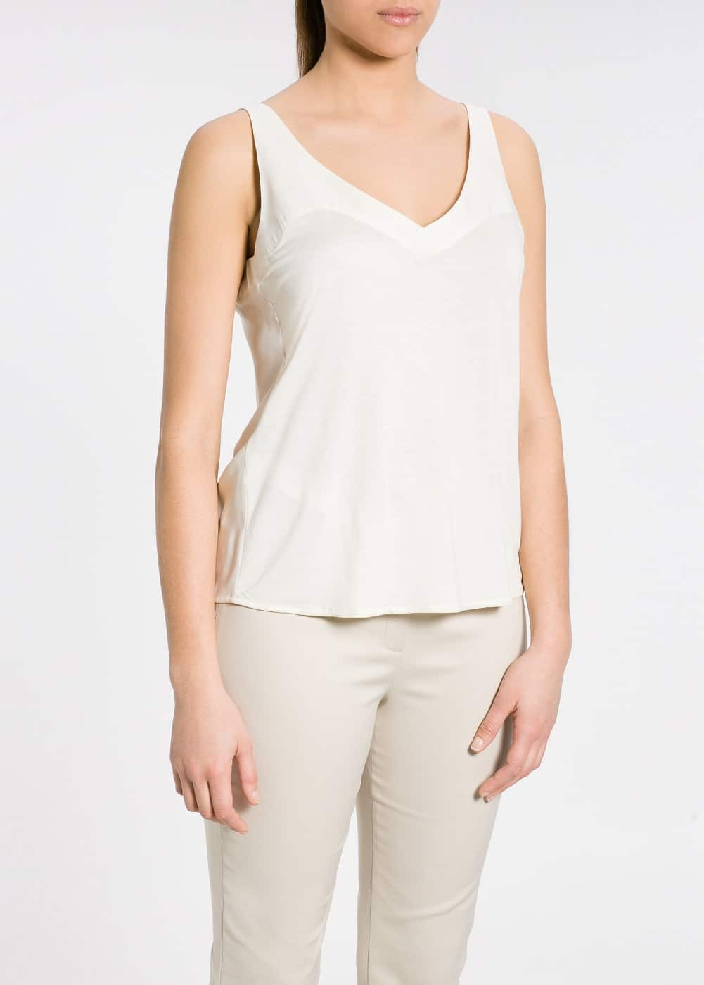 Contrast viscose top