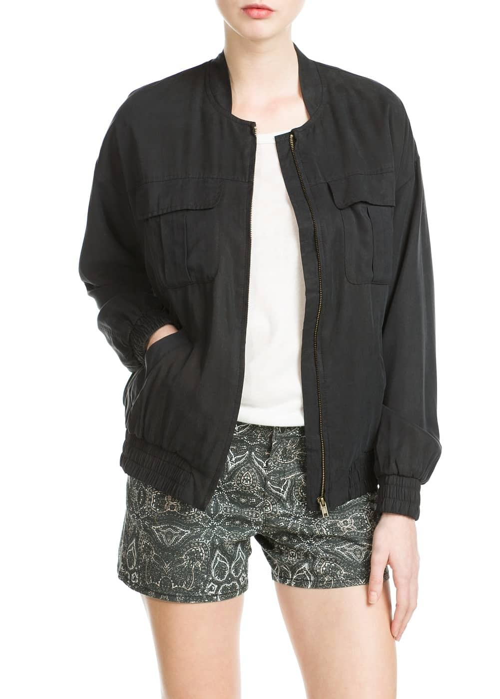 Soft fabric bomber