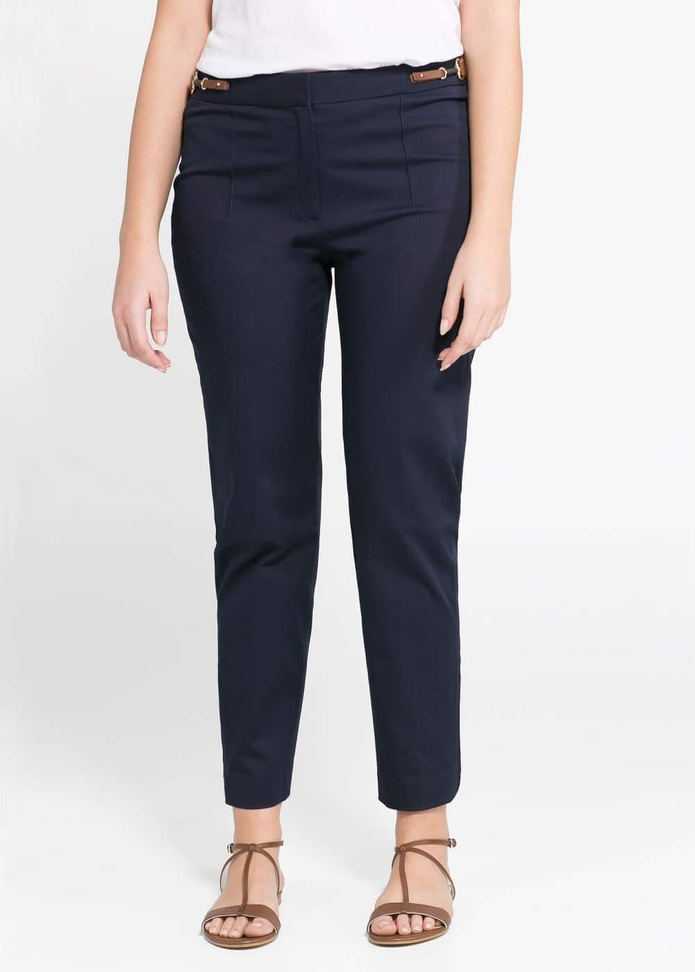 Side-tab trousers