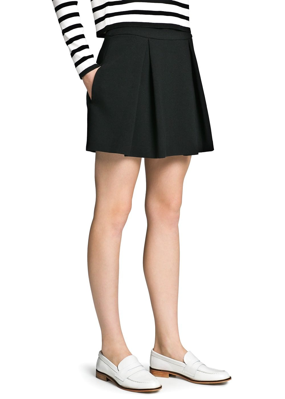 Pleated ponte skirt | MANGO