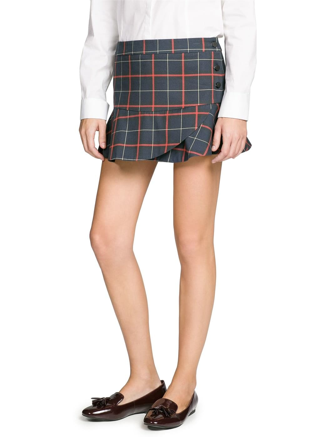 College style fluted miniskirt