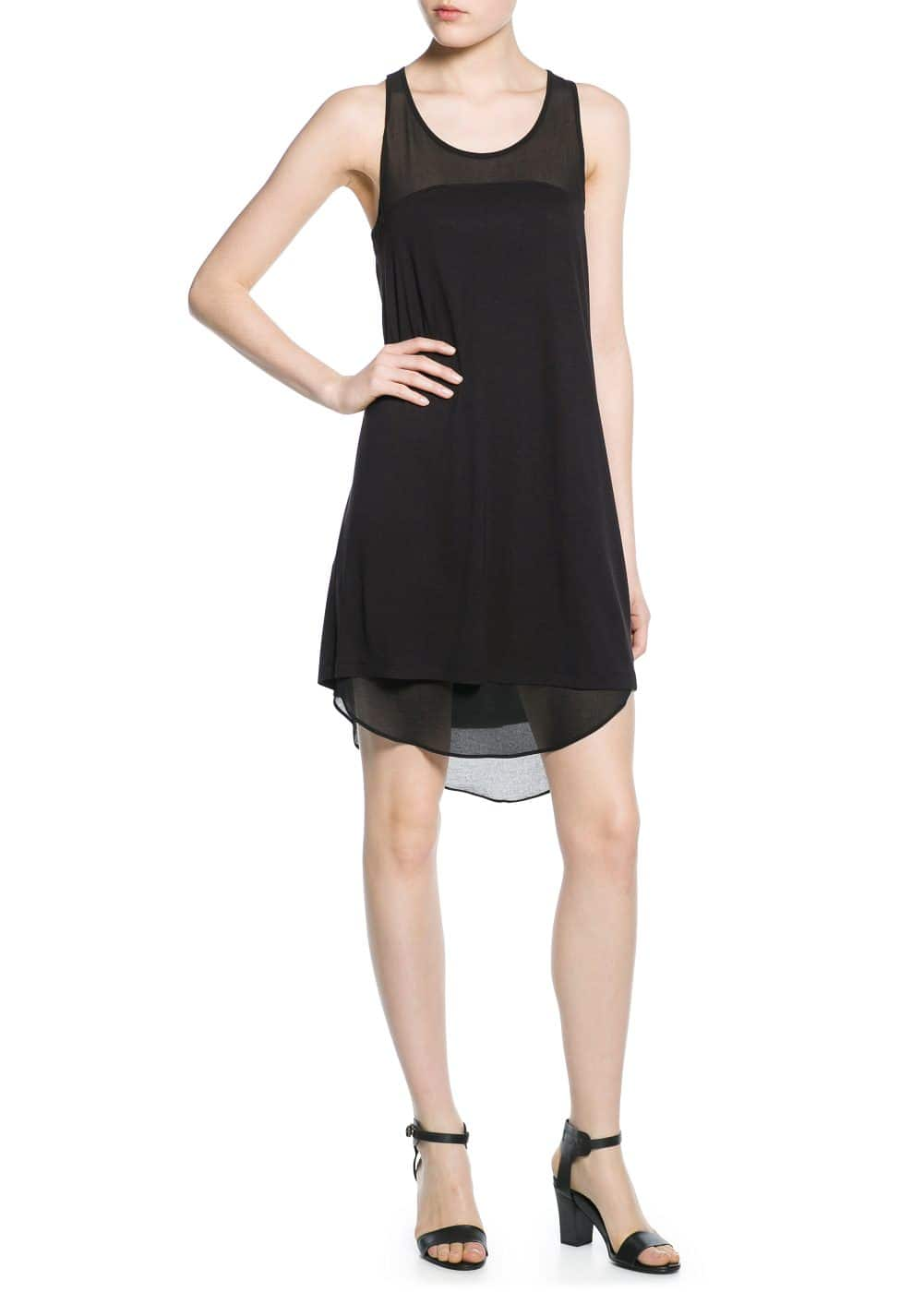 Chiffon panel dress | MANGO