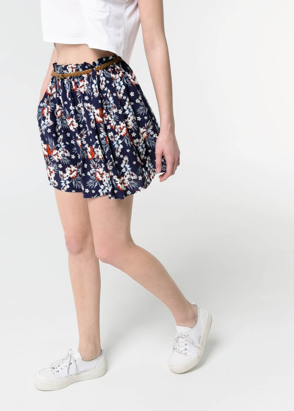 Floral flared skirt | MANGO
