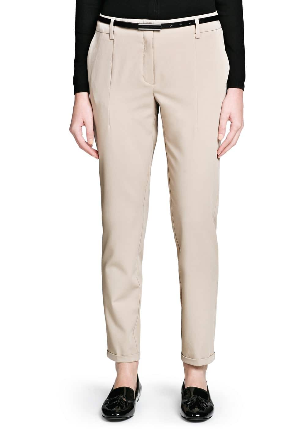 Belted sartorial trousers