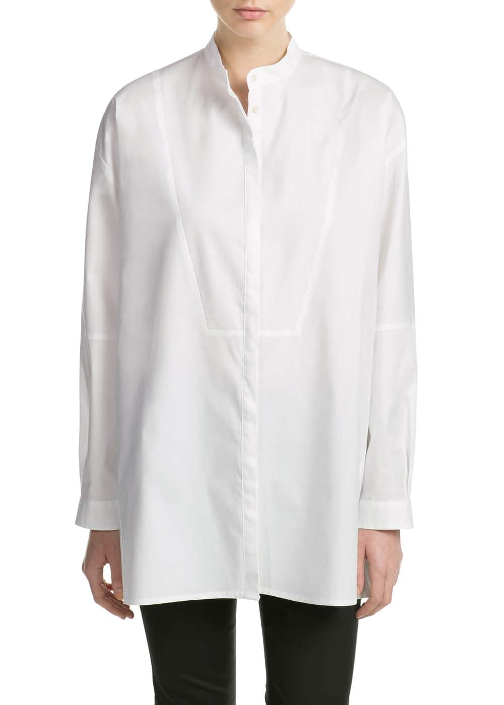 Mao collar shirt