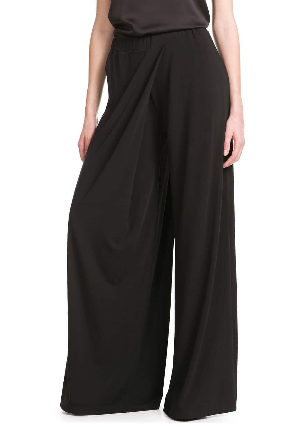 Wrap palazzo trousers