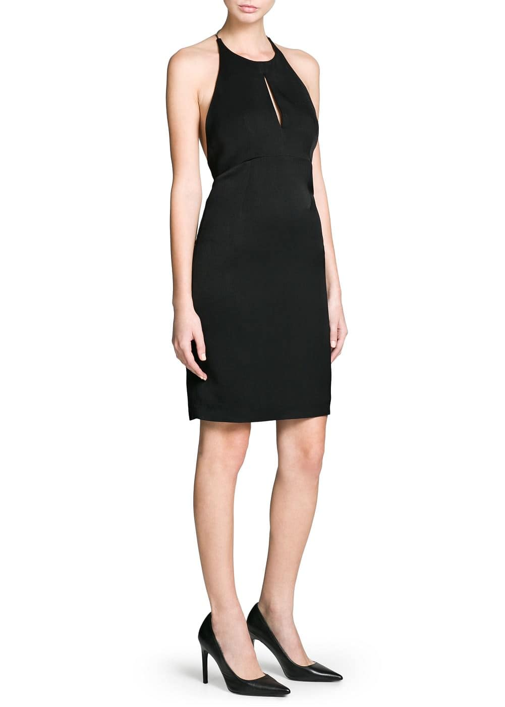 Premium - cut-out halter dress | MANGO