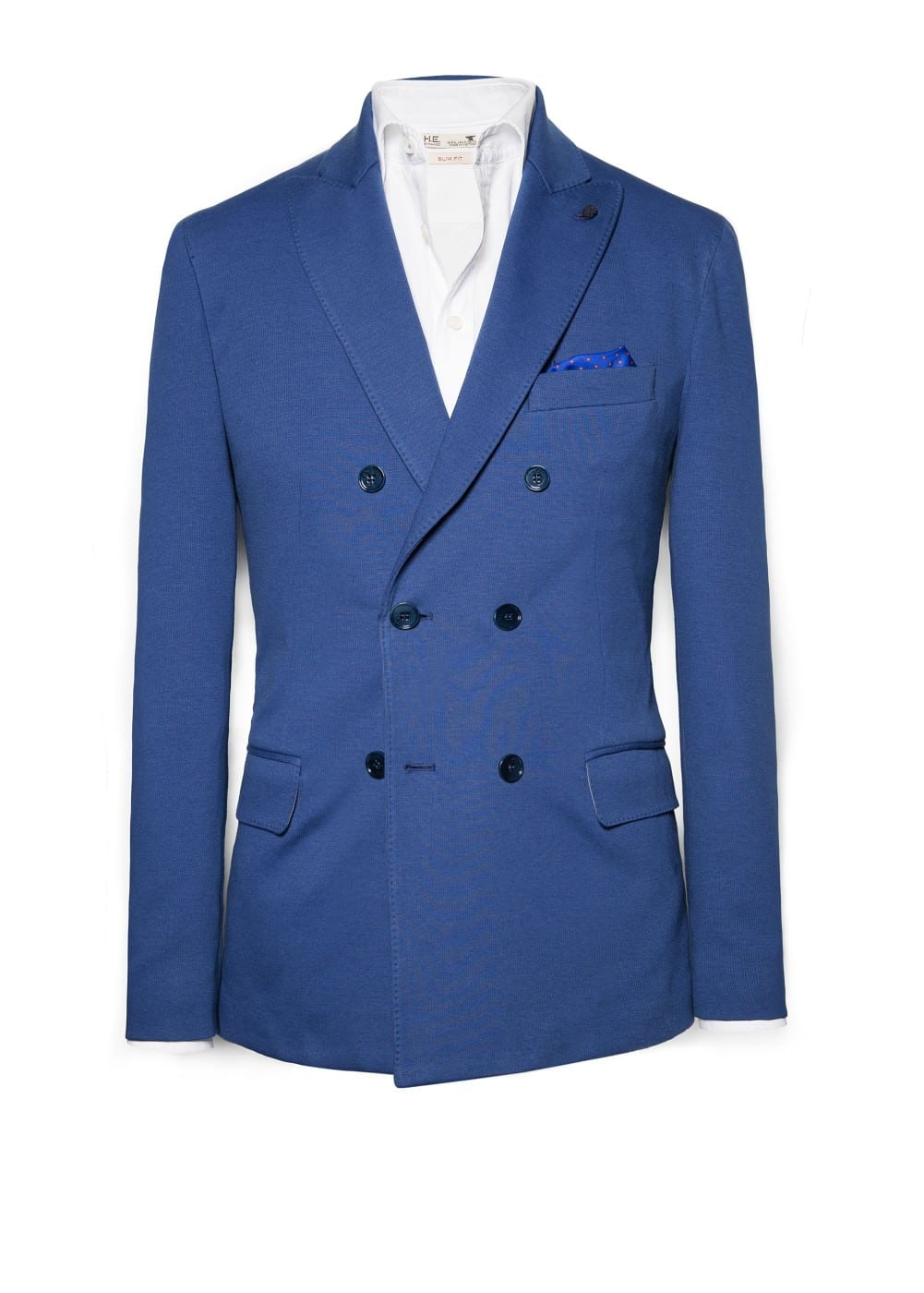 Double-breasted jersey blazer | MANGO MAN