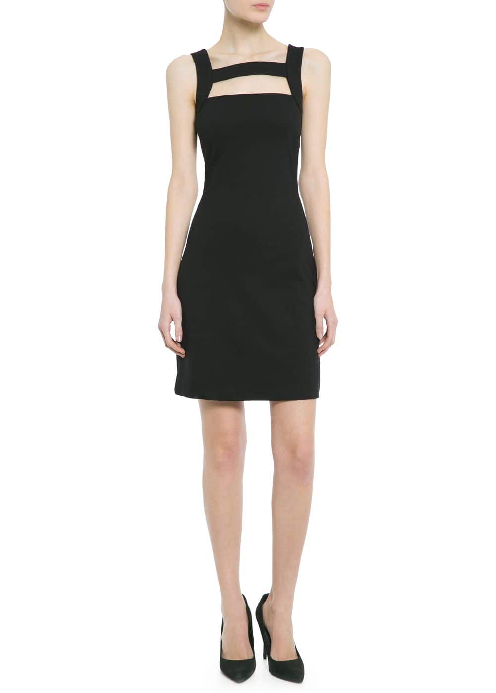 Cut-out strap dress | MANGO
