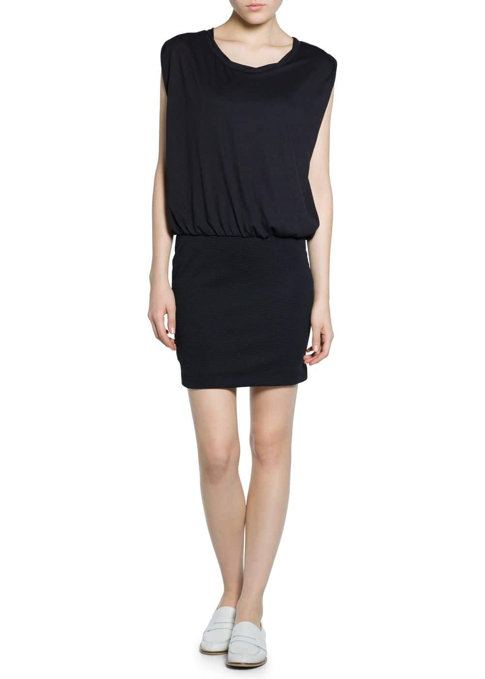 Contrast bodice dress | MANGO