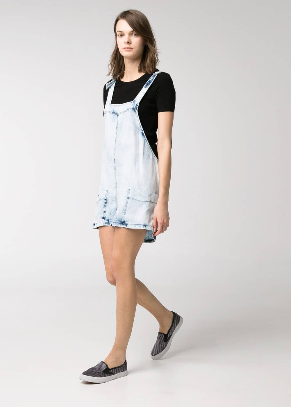 Soft fabric short dungarees
