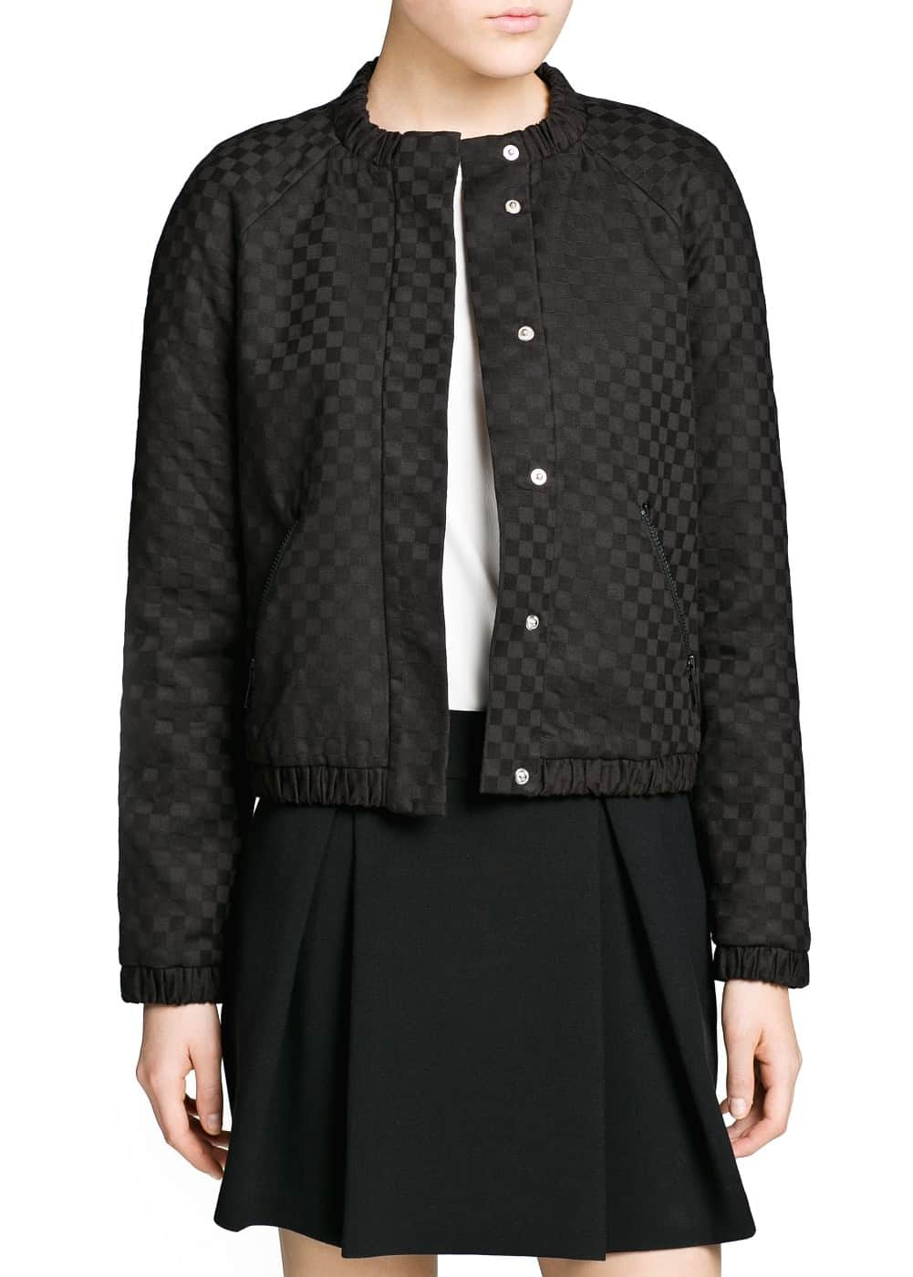 Textured quilted bomber jacket | MANGO